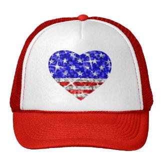 Glitz USA Heart trucker hat