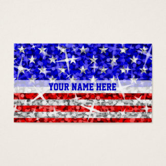 Glitz USA stripe business card template