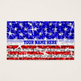 Glitz USA stripe business card template white