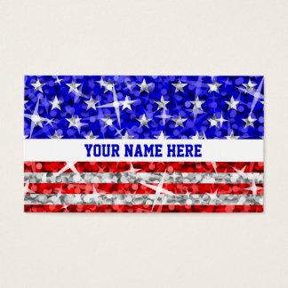 Glitz USA white stripe business card template