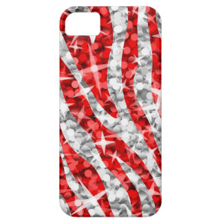 Glitz Zebra Red iPhone 5 barely there vertical iPhone 5 Covers