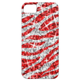 Glitz Zebra Red iPhone 5 case (horizontal)