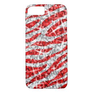 Glitz Zebra Red iPhone 7 case