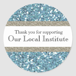 Glitzy Blue Glitter Personalized Seal