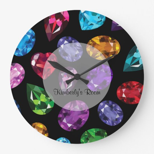 Glitzy Faux B Bling Wall Decor Clocks