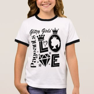 Glitzy Girls - Love Pageants Ringer T-Shirt