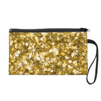 Glitzy glamour gold bagette wristlet