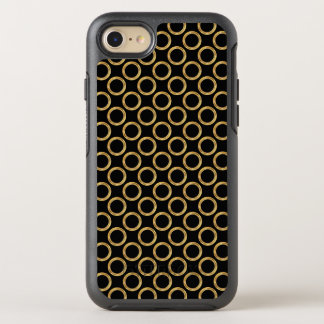 Glitzy Gold And Black OtterBox Symmetry iPhone 7 Case