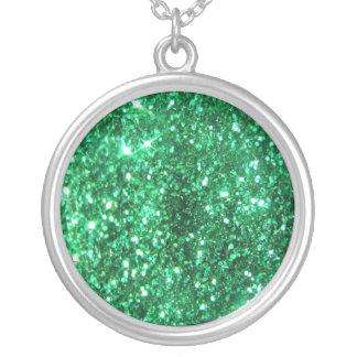 Glitzy Green Glitter Pendant