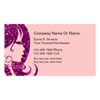 Glitzy Hairdresser Business Cards