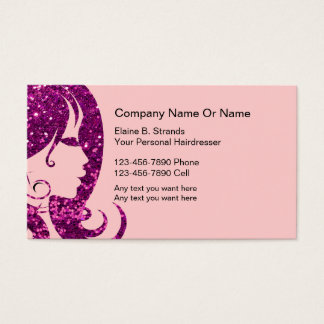 Glitzy Hairdresser Business Cards