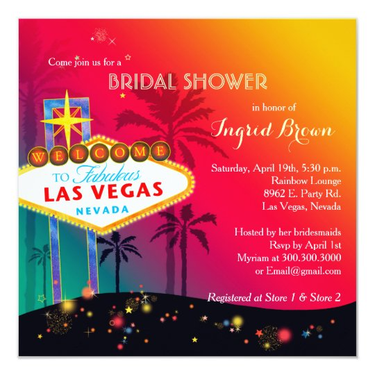 Glitzy Las Vegas Bridal Shower Card
