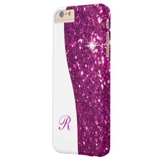 Glitzy Monogram Bling Barely There iPhone 6 Plus