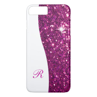 Glitzy Monogram Bling iPhone 7 Plus Case