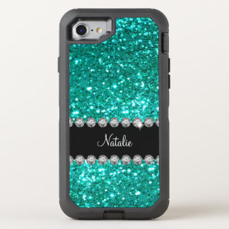 Glitzy Monogram Faux Glitter OtterBox Defender iPhone 8/7 Case