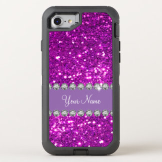 Glitzy Monogram Simulated Glitter OtterBox Defender iPhone 8/7 Case