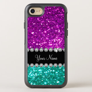 Glitzy Monogram Sparkling Faux Glitter OtterBox Symmetry iPhone 8/7 Case