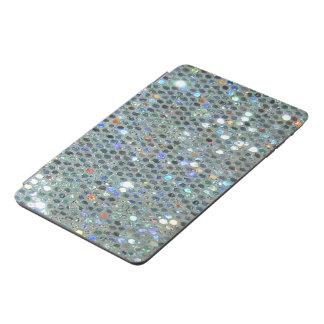 Glitzy Sparkly Silver Glitter Bling iPad Mini Cover