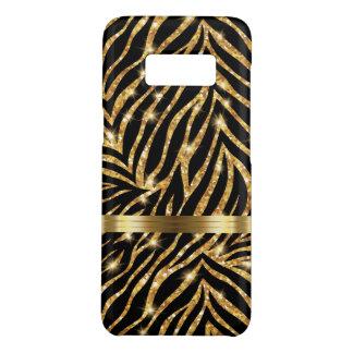 Glitzy Zebra Monogram Style Case-Mate Samsung Galaxy S8 Case