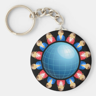 Global Business Men And Women Keychain