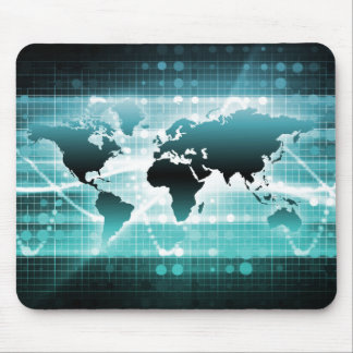 Global Business Technology Futuristic Traveler Mousepad