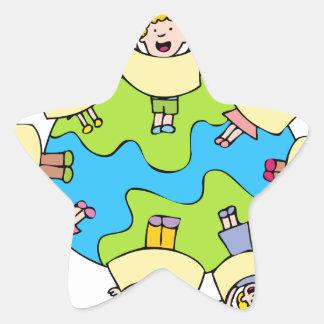 Global Children Choir Cartoon Star Sticker