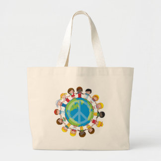 Global Children Large Tote Bag