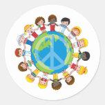 Global Children Round Sticker