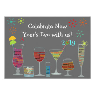Global Cocktails New Year s Eve Invitation