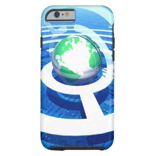 Global communication, conceptual computer 2 iPhone 6 case