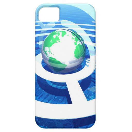 Global communication, conceptual computer 2 iPhone 5 covers
