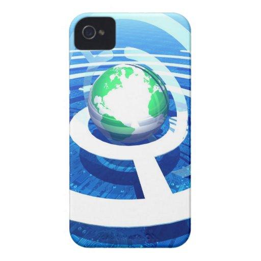 Global communication, conceptual computer 2 iPhone 4 Case-Mate case