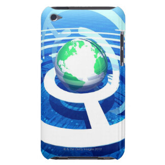 Global communication, conceptual computer 2 iPod touch case