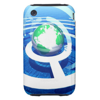 Global communication, conceptual computer 2 tough iPhone 3 cases