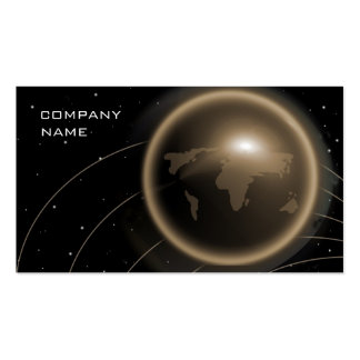 Global Computer Financial Business Card Gold