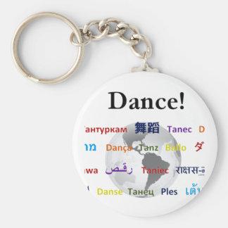 Global Dance - The Global Language (Customizable) Keychain