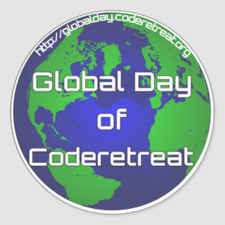 "Global Day of Coderetreat 3"" sticker"