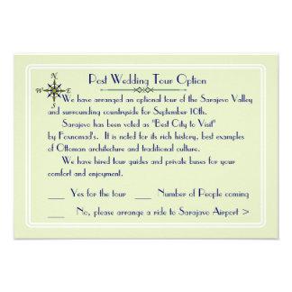 Global Destination Wedding Optional Tour RSVP Custom Invitations