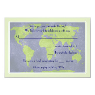 Global Destination Wedding Response Card 9 Cm X 13 Cm Invitation Card