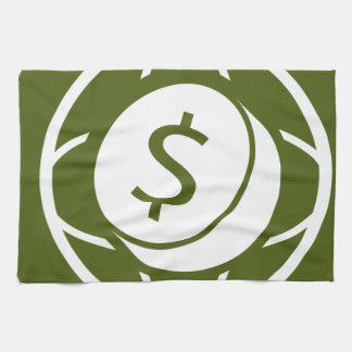Global Financial Business Icon Towel
