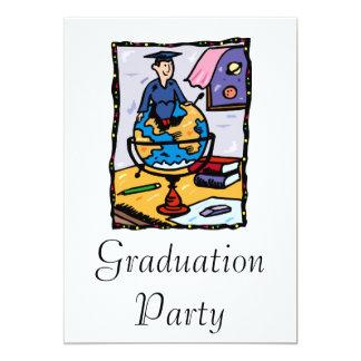 Global Graduate 13 Cm X 18 Cm Invitation Card