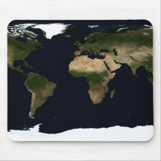 Global image of the world mouse pad