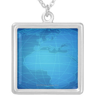 Global Image Square Pendant Necklace