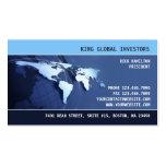 Global Internation Map Business Card