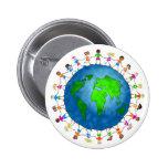 Global Kids 6 Cm Round Badge