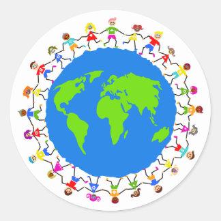 Global Kids Round Sticker