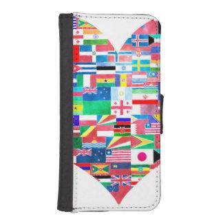 Global Love Phone Wallet Case