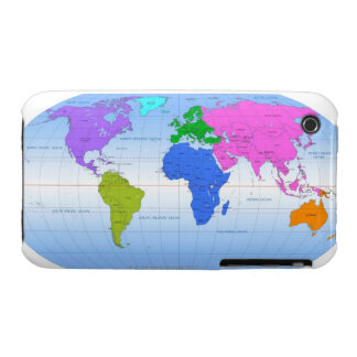 Global Map 2 Case-Mate iPhone 3 Cases