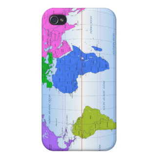 Global Map 2 iPhone 4 Case