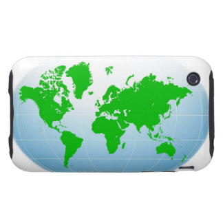Global Map iPhone 3 Tough Cases